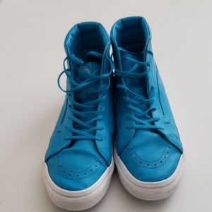 Vans Off the Wall leather hi tops